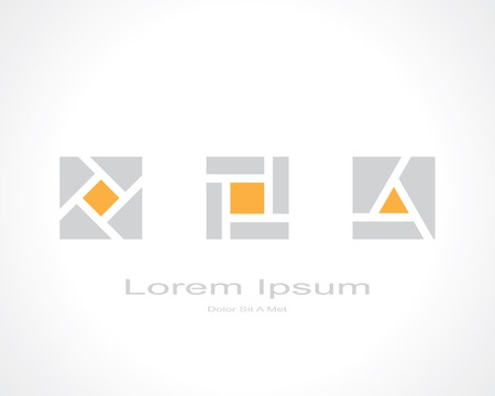 abstract square shape elements. template logo design. vector eps8 Vector