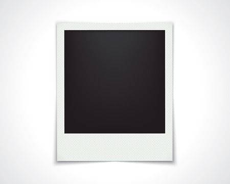 grunge frame: blank photo frame isolated on white. template design. vector eps10 Illustration