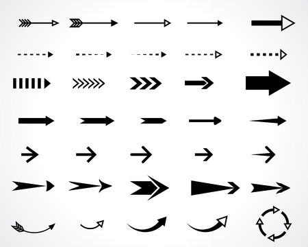 moving down: arrows. vector design elements set. eps8