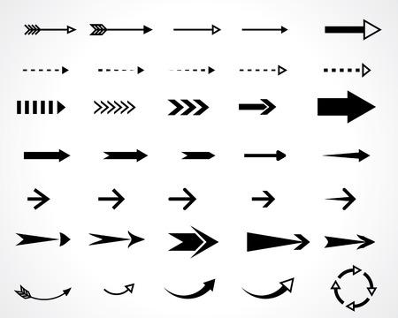 flechas direccion: flechas. elementos de diseño conjunto de vectores. eps8 Vectores