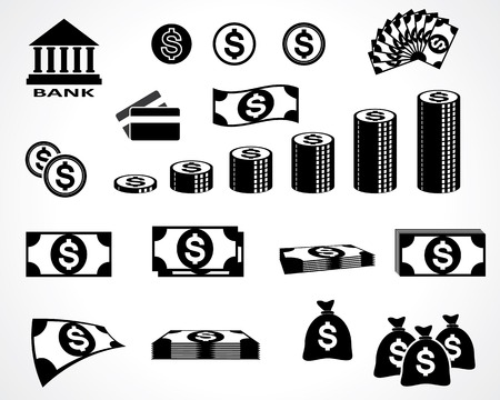 pay money: money symbols. design elements. vector eps8 Illustration