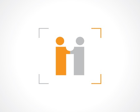symbol business meeting or partnership.  Vector