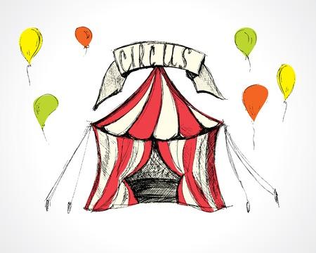 cirque: circus. handmade vector illustration eps8