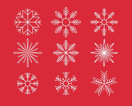 christmas stars: snowflake symbols.  Illustration