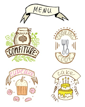 lunchroom: sweet hand-drawn badges