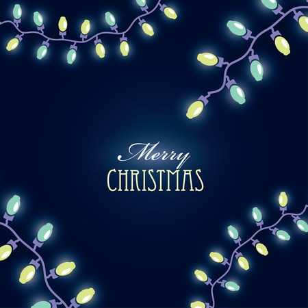 Christmas background with luminous garlands Vector