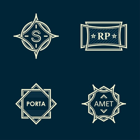 graphic frames on a dark background Vector