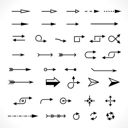 기술 화살표의 집합입니다. 벡터 디자인 요소 세트