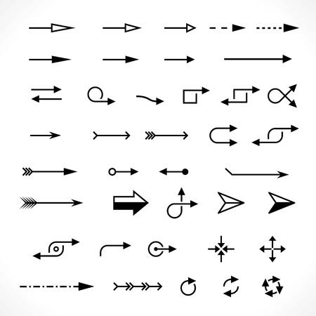 set of technology arrows. vector design elements set Vectores