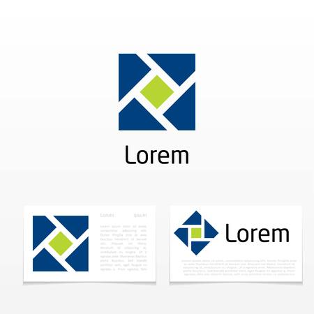 construction firm: abstract symbol. template logo design