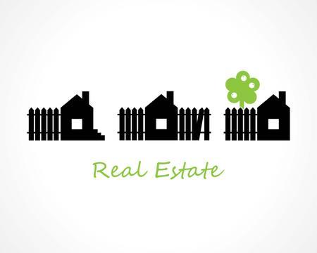 logo home: houses. real estate concept