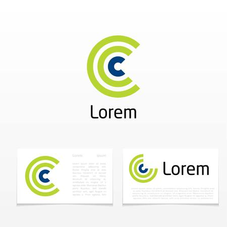 abstract symbol of letter c. template logo design