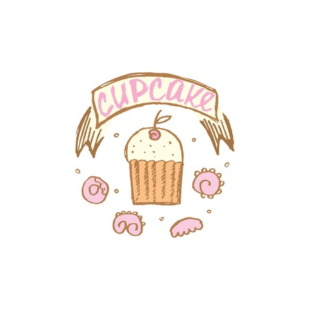 gateau: vector illustration of a cupcake