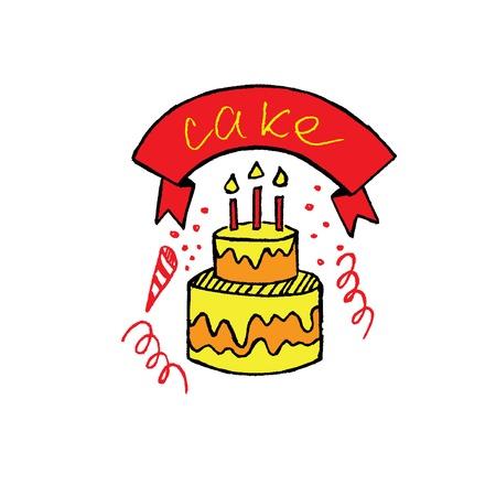 lunchroom: manual figure cake Illustration