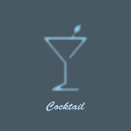 martini glass: glass of martini misty silhouette. used gradient mesh Illustration