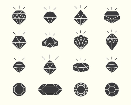 diamond background: shapes jewelery with diamond design Illustration