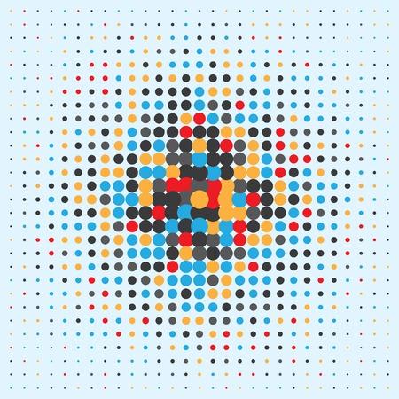 halftone pattern: halftone colored pattern