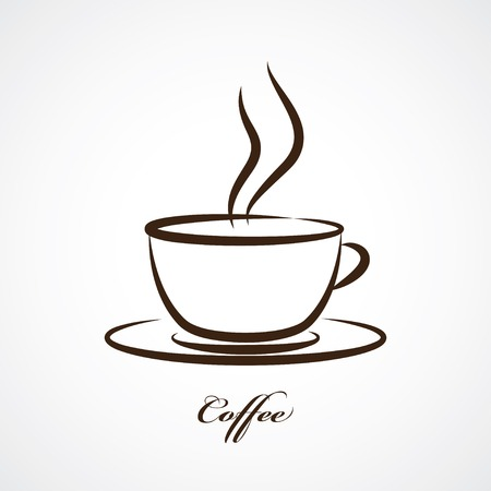 tazza di te: tazza di caffè icona Vettoriali