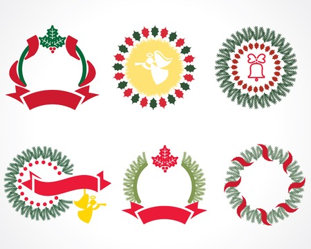 coronas navidenas: guirnaldas de Navidad pintadas