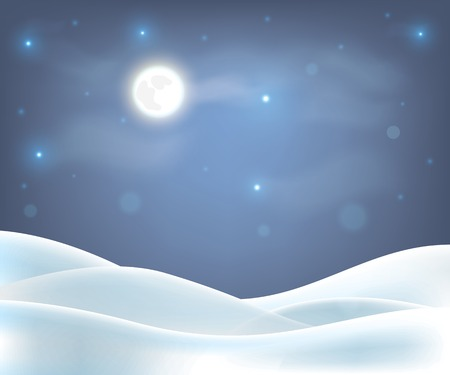 snow field: Merry Christmas winter background