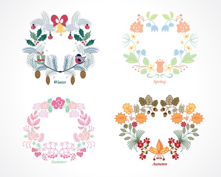cute love: seasons wreath set