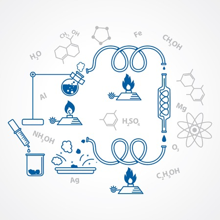 chemical process. chemistry scientific background