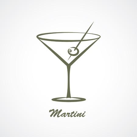 martini glas Stock Illustratie