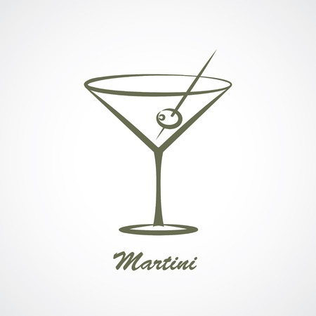martini glass: martini glass