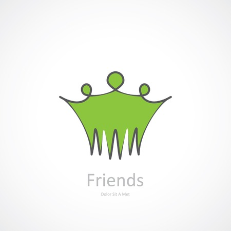 abstract symbol of friendship