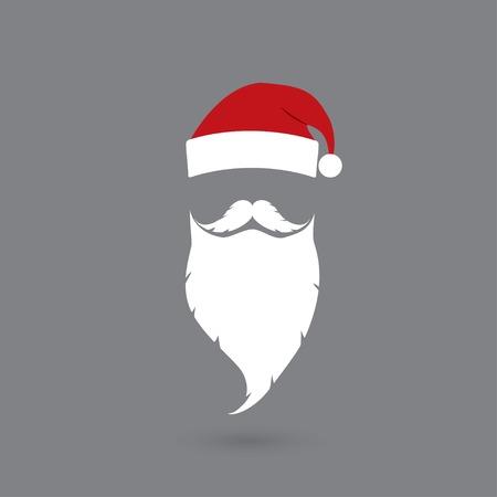 hat and beard Santa claus