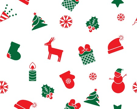 christmas toys seamless background Vector