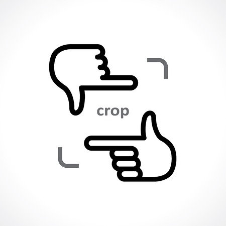 cropping hands icon