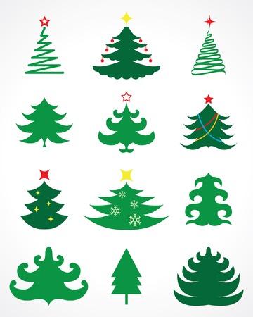 christmas tree vector set