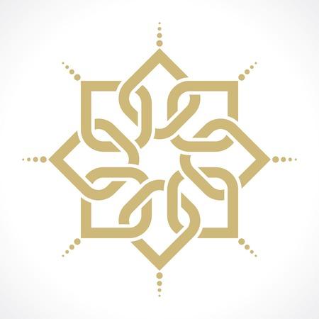 幾何学模様のアラビア語  イラスト・ベクター素材