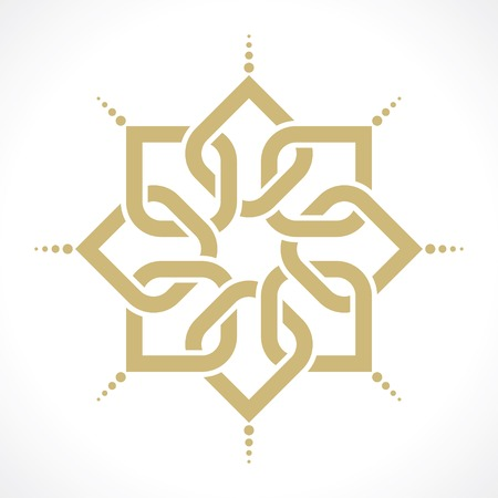 muslim pattern: geometric arabic pattern