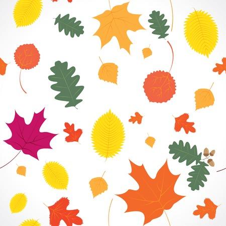 autumn leaf fall. seamless background Vector