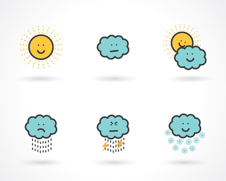 smiling sun: weather icons