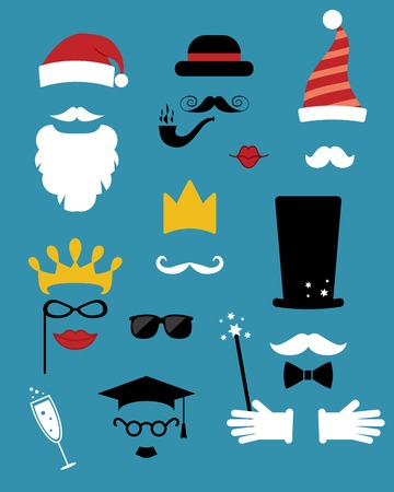 jest: photo props. hats, mustache, glasses