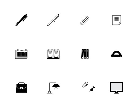 stationery icons set Vector