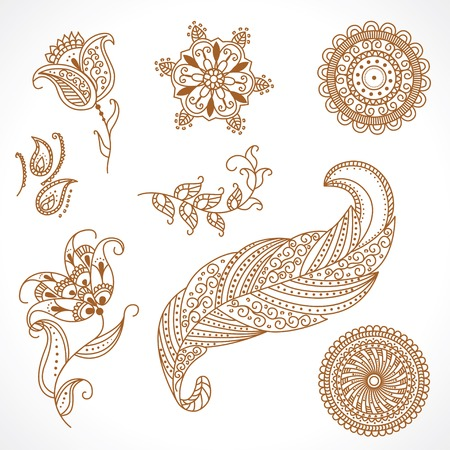 ornamental floral elements Illustration