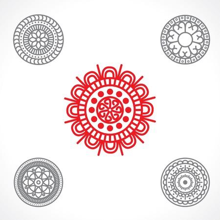 celt: round ornament. vector set Illustration