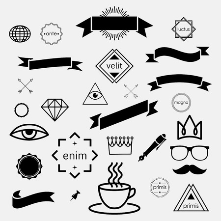 props: hipster icons