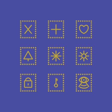 clave sol: iconos conjunto
