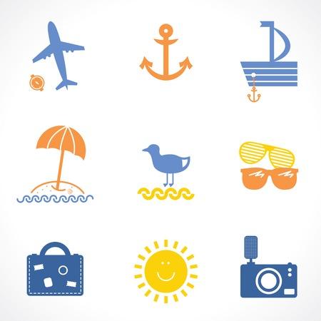 beach bag: travel icons