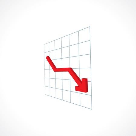 decline: down arrow financial crisis icon