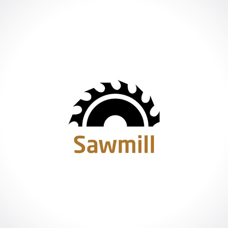sawing: sawmill icon Illustration