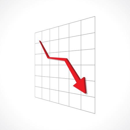 dow: down red arrow Illustration