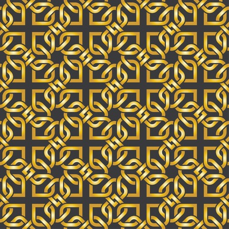arabic motif: golden arabic pattern. seamless ornamental background