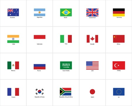 and south: flags of the world