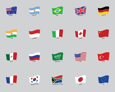 flags of the twenty States Vector